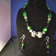 One of a kind necklace and earrings set - no other like it in the world