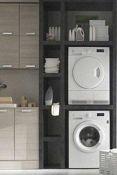 16 ideas apartment laundry closet organization washer and dryer for 2019 Washer Dryer Closet, Laundry Dryer, Apartment Washer And Dryer, Laundry Hacks, Laundry Closet Organization, Laundry Room Organization, Laundry Organizer, Stackable Washer And Dryer, Small Washer And Dryer
