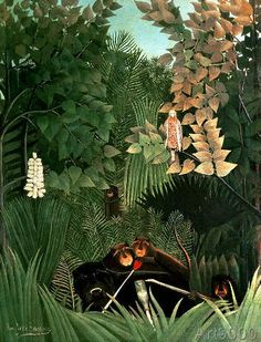 Henri J.F. Rousseau - The Monkeys, 1906