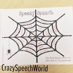 Crazy Speech World: Spooky Speech {Freebie!}