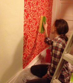 Make your own removable wallpaper! – azulinedesignblog