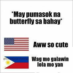 Also applies to moths - Pinoy Jokes Tagalog, Tagalog Quotes Patama, Memes Pinoy, Tagalog Quotes Hugot Funny, Pinoy Quotes, Tagalog Love Quotes, Filipino Quotes, Filipino Funny, Love Quotes For Her