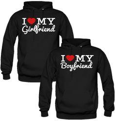 I LOVE MY BOYFRIEND AND GIRLFRIEND LOVE DESIGNED Couple Hoodie