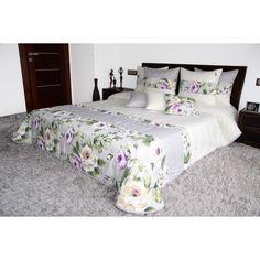 Sivo krémový prehoz na posteľ s ružami Comforter Sets, Comforters, Furniture, Home Decor, Creature Comforts, Quilts, Decoration Home, Room Decor, Home Furnishings