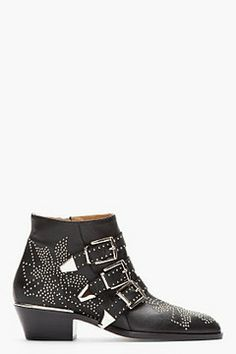 CHLOE Black studded Suzanna Boots on shopstyle.com. i'll take these in a size 8 please