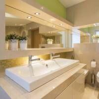 Licht im Badezimmer LED Spots Badbeleuchtung indirektes Licht Leuchten