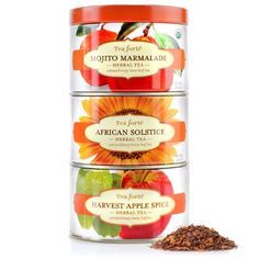 BESTSELLER! Tea Forte Loose Tea Trio - Herbal Sampler - Mojito Marmalade, African Solstice, Havest Apple Spice $15.00
