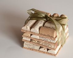Wine Cork Coasters Set of Four Wedding Favor by MaxplanationPhotos, $8.00
