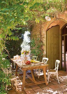 15 comedores con encanto al aire libre · ElMueble.com · Casa sana
