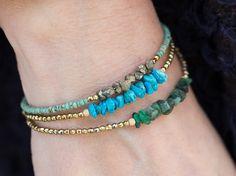Pulsera Esmeralda puede joyas de piedra por AlisonStorryJewelry
