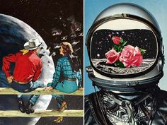 As of late, I've been overwhelmingly inspired by collages.The more I see them, the more I'm tempted to start collecting old magazine cutouts for hours of cutting and pasting fun. Eugenia Loli's amazing work opens the door to imagination wide open.