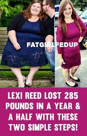 Lexi Reed 'FatGirlFedUp' Lost 285 Pounds In 18 Months With These 2 Simple Steps! - Weight loss tips for women. Best Weight Loss Plan, Meal Plans To Lose Weight, Weight Loss Meals, Lose Weight In A Month, Weight Loss Before, Fast Weight Loss, Weight Loss Program, Weight Loss Transformation, Weight Loss Journey