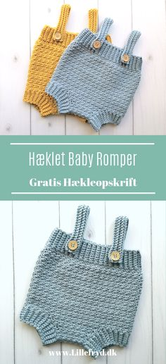 Free crochet pattern on this lovely soft baby romper. It is crocheted in lovely soft Cotton merino. # crochet baby costumes # crochet swimsuit # crochet baby costumes Free crochet p Crochet Romper, Newborn Crochet, Knit Crochet, Free Crochet, Crochet Baby Costumes, Crochet Baby Clothes, Baby Knitting Patterns, Baby Patterns, Crochet Patterns