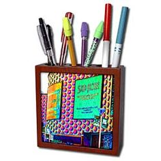 Strip House, Steak house a neon building in Vegas Tile Pen Holder Buy Tile, Desk Clock, Light Switch Covers, Pen Holders, Vegas, Steak, Neon, Building, House
