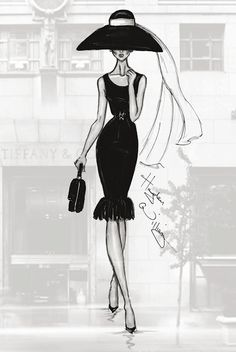 #Hayden Williams Fashion Illustrations #A Trip to Tiffany's
