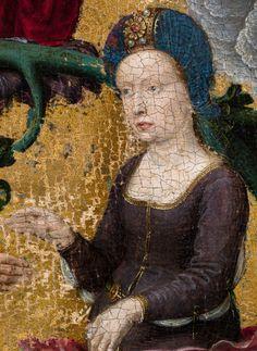 """Gérard David, """"La Lignée de sainte Anne"""", vers 1500 (détail)"""
