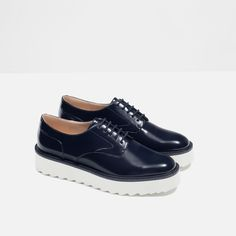 BLUCHERS WITH LACES-Flats-Shoes-WOMAN | ZARA United States
