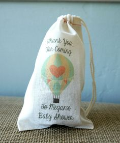 Personalized Vintage Hot Air Balloon Muslin Party by FINCHandFOX, $19.00