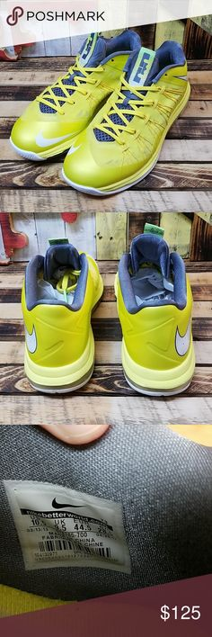 best service 03c6a f4c7d Nike Lebron 10 Low Sonic Yellow Mens Size 10.5 Item is in Pre-Owned  Condition