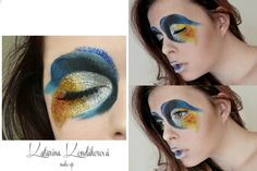 Colorful & Glitter makeup inspired by Cirque de Soleil