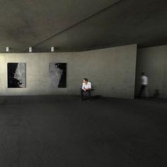 Concrete architecture art gallery project concept minimalism