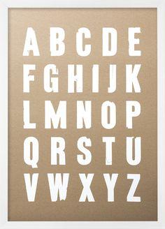 Lettra - Screen Print 50x70cm