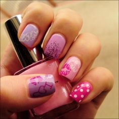 girliest nails ever
