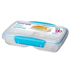 Sistema Small Split To Go Divided Snack Container Image 4 of 7 Plastic Containers, Food Storage Containers, Lunch Box With Compartments, Things I Need To Buy, Stuff To Buy, Travel Snacks, Split Design, Modern Clock, Tea Packaging