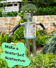 Not your garden-variety scarecrow - kick it up a notch with this DIY Scare-bot!