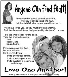 Anyone Can Find Fault