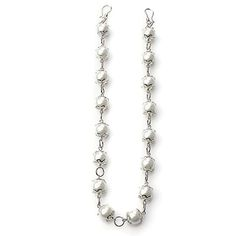 INTRICATE Item #: USML100096 Extravagant Expressions strand featuring white glass pearls with intricate silver bead caps. Measures 17 inches. Your Price:$35.00