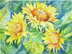 Sunflower faces by Canvas2Cards on Etsy, $2.99