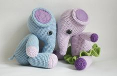 2 PATTERNS  Crochet Elephant Pattern  Mio and Mia door TinyAmigurumi, $5.90