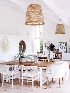 Scandinavian Dining Room Design: Ideas & Inspiration - Di Home Design Decor, Bohemian Dining Room, Dining Room Design, Scandinavian Dining Room, Sweet Home, Coastal Living Rooms, Dining Room Decor, Home Decor, House Interior