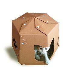 Martian Cardboard Cat House Cat Furniture Cat by CacaoFurniture Cardboard Furniture, Pet Furniture, Cardboard Cat House, Kitsch, Cat Cave, Space Cat, Cat Crafts, Pet Beds, Cat Design