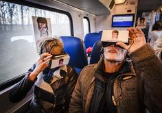 Train passengers take a virtual reality journey through the life of the British pop star David Bowie, which is exhibited in a 'Virtual Bowie Coupe' in the train from Zwolle to Groningen David Bowie, Bowie Blackstar, Spiral Galaxy, China Girl, Wearable Technology, Girls In Love, Virtual Reality, Ecommerce, The Past