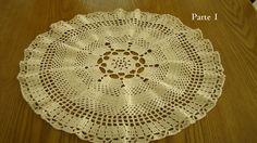 CENTRO DE MESA: arcos y espigas part. 1--- tejido a crochet--- paso a paso