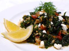 Greek Spinach and Rice recipe (Spanakorizo)