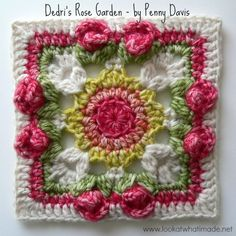 Due to popular demand I bring you Penny Davis' crochet square, which she has decided to call Dedri's Rose Garden. I am a little bit shy about having this square named after me (on a blog that ...