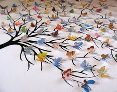 11x14 3D Tree of Butterflies. Personalized by aboundingtreasures