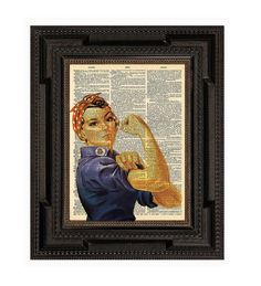 Rosie the Riveter Cultural American Icon 1942 Print by AvantPrint, $7.00