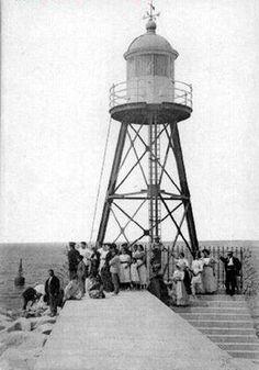 Faro del Puerto de Alicante.1910.Foto subida por O.LL