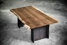 table with steel gurder legs - Google Search