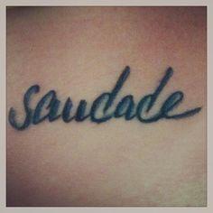 my saudade tattoo