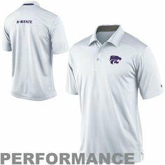Nike Kansas State Wildcats Performance 2013 Coaches Polo - White