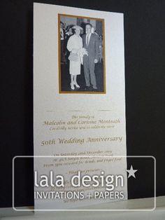 Photography wedding anniversary invitation