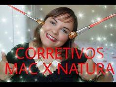 BATALHA DOS CORRETIVOS: #MAC X #NATURA AQUARELA/POR CARLA PAES!