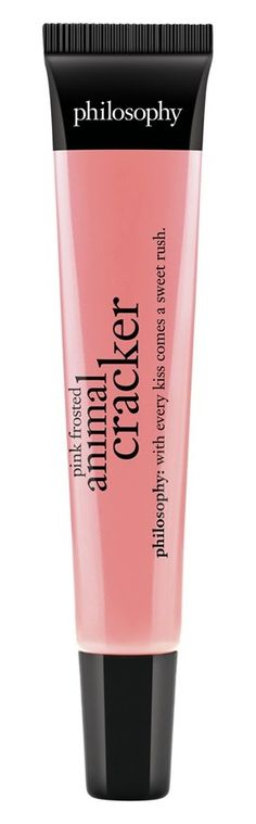 Pink frosted animal cracker lip gloss. Yum!