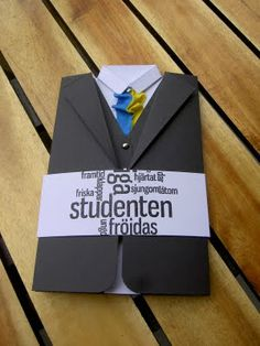 Handmade by Tina: Kavaj kort till student Graduation Day, Masculine Cards, Diy Cards, Fathers Day, Cardmaking, Mall, Birthday Gifts, Presents, Paper Crafts