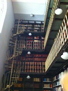 The library of the Antiguo Palacio del Ayuntamiento, Mexico City.